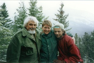 Instructors at the international woodfiring workshop Banff 1994, from left Robert Archambeau, Linda Christianson and Torbjørn Kvasbø